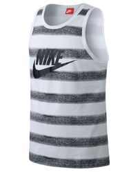 Nike | White Ace Fade Tank for Men | Lyst