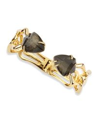 Alexis Bittar - Black Hinged Fancy Pyrite Crystal Doublet Bracelet - Lyst