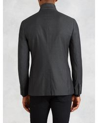 John Varvatos - Gray Peak Lapel Soft Jacket for Men - Lyst