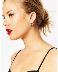ASOS | Metallic Crystal Swing Earrings | Lyst