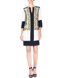Etro - Black Embroidered Silk-cady Tunic Dress - Lyst