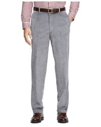 Brooks Brothers - Gray Clark Fit 8-wale Corduroys for Men - Lyst