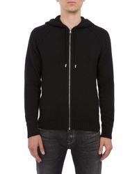 7 For All Mankind - Hoodie Cashmere Black for Men - Lyst