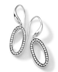 Ippolita - Metallic Sterling Silver Delicato Oval Earrings With Diamonds - Lyst