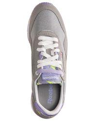 Reebok - Gray Women's Classic Nylon Slim Jacquard Casual Sneakers From Finish Line - Lyst