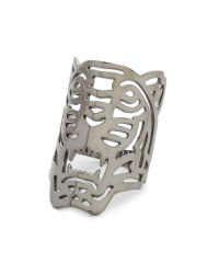 KENZO   Oversized Tiger Ring - Black/silver   Lyst