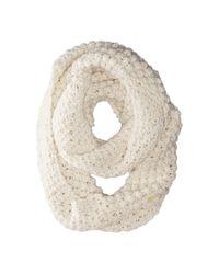 Cole Haan | White Popcorn Stitch Handknit Infinity Scarf | Lyst