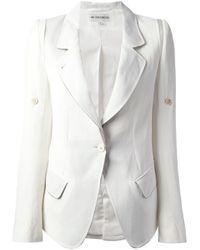 Ann Demeulemeester | White Buttoned Blazer | Lyst