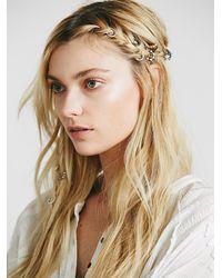 Free People | Metallic Womens Stone Detail Hair Rings | Lyst