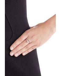 Delfina Delettrez - Metallic Marry Me 18kt White Gold Ring With Diamonds - Silver - Lyst