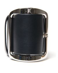 Givenchy | Black Leather Buckle Chunky Bracelet | Lyst
