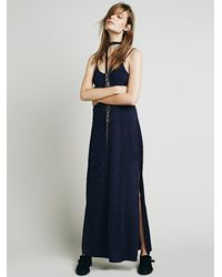 Free People | Blue Intimately Womens She Moves Maxi Slip | Lyst
