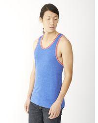 Alternative Apparel - Blue Double Ringer Eco-jersey Tank Top for Men - Lyst
