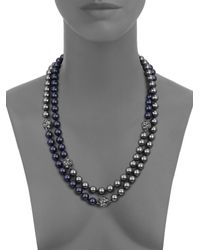 St. John | Blue Pearl Two-tone Rope Necklace | Lyst
