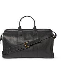 Lotuff Leather - Black Full-Grain Leather Holdall for Men - Lyst