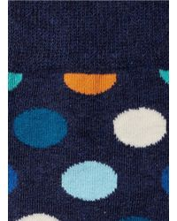 Happy Socks | Black Multicolor Dot Crew Socks for Men | Lyst