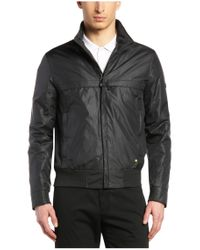 BOSS Green - Black Regular-fit Leather Jacket With A Fine Grain: 'c-jordes' for Men - Lyst