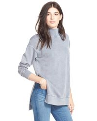 Free People - Blue 'jolene' Cotton Pullover - Lyst