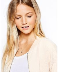 Orelia - Metallic Bee Necklace - Lyst