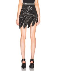 Rodarte | Black Hand Beaded Skirt | Lyst
