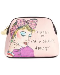 Betsey Johnson | Pink Hashtag Cosmetics Case | Lyst