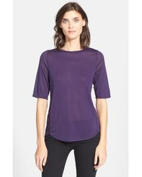 Vince | Purple 'mouline' Wrap Seam Elbow Sleeve Tee | Lyst