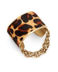 Paige Novick | Multicolor Natalie Leopard-print Calf Hair Cuff Bracelet | Lyst