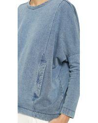Helmut Lang - Blue Indigo Sweatshirt Top - Light Indigo - Lyst
