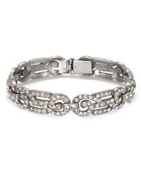 Ben-Amun | Metallic Classic Crystal Deco Bracelet | Lyst