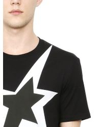 Neil Barrett | Black Printed Cotton T-shirt | Lyst