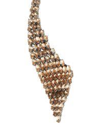 BCBGMAXAZRIA | Blue Layered Stone Collar Necklace | Lyst