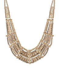 Lucky Brand | Metallic Pave Dream Quartz-accented Bib Necklace | Lyst
