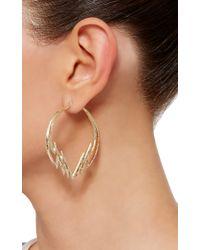 Venyx - Metallic Gold And Diamond Electra Hoop Earrings - Lyst