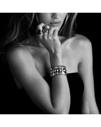 David Yurman - Metallic Chiclet Threerow Bracelet with Gold - Lyst