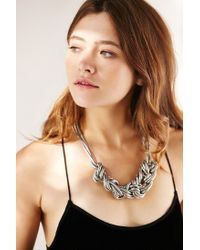 Urban Outfitters - Metallic Museum Walls Knotted Necklace - Lyst