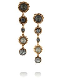 Oscar de la Renta | Metallic Gold-Tone Crystal Earrings | Lyst