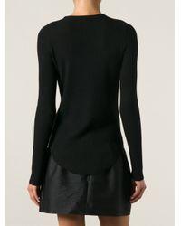 IRO - Black Serena Ribbed Sweater - Lyst