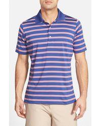 Fairway & Greene - Blue 'sunset' Stripe Moisture Wicking Stretch Jersey Golf Polo for Men - Lyst