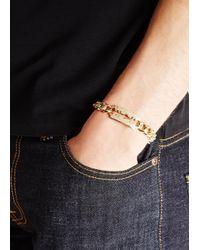 McQ | Metallic Gold Tone Razor Chain Bracelet for Men | Lyst