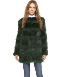 Shrimps - Bobbin Coat - Bottle Green/bottle Green - Lyst