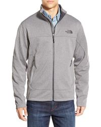 The North Face - Gray 'canyonwall' Fleece Jacket for Men - Lyst