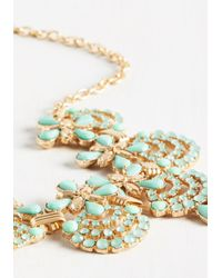 Ana Accessories Inc - Multicolor Hit The Town Stunning Necklace In Mint - Lyst