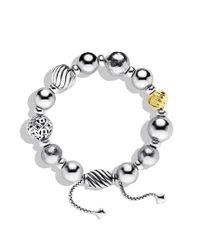 David Yurman - Metallic Dy Elements Bracelet with Gold - Lyst