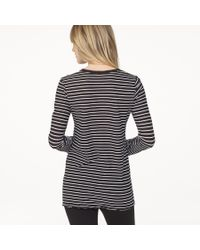 James Perse - Gray Bell Sleeve Striped Crew - Lyst