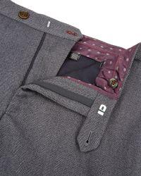 Ted Baker | Gray Tylltro Herringbone Trousers for Men | Lyst