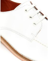 YMC - White Leather Bowling Shoes for Men - Lyst