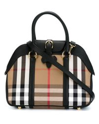 Burberry - Black House Check Bowling Tote - Lyst