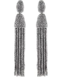 Oscar de la Renta | Metallic Bead Tassel Earrings - For Women | Lyst