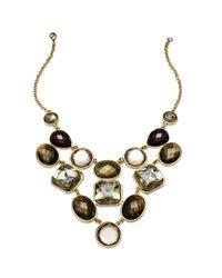 INC International Concepts   Metallic Gold-tone Multistone Bib Necklace   Lyst