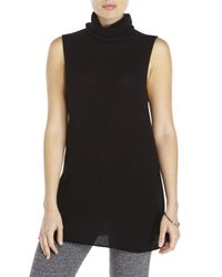 In Cashmere | Black Sleeveless Turtleneck Tunic | Lyst